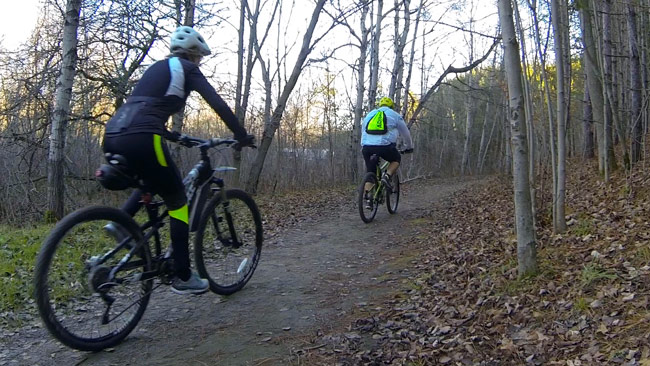 The trails are great for hiking or biking.