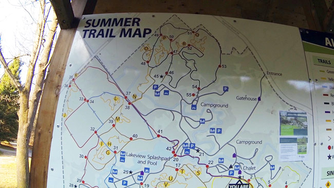 Summer map of the extensive trail system.