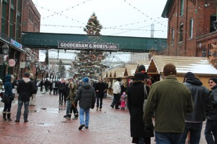 Distilllery District transformed into a traditional market.
