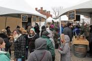 Vendors line the street
