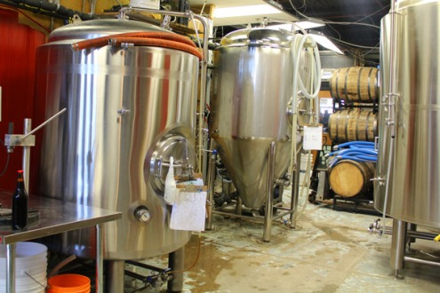 New tanks in the brewhouse.