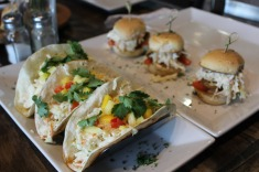 Dee-lish food at Wolfhead, perch tacos