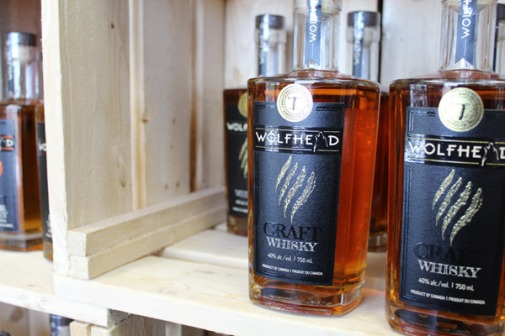 Made in ON craft whiskey from Wolfhead