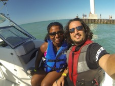 We went out for a speedboat ride!