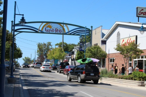 The main strip of Grand Bend.