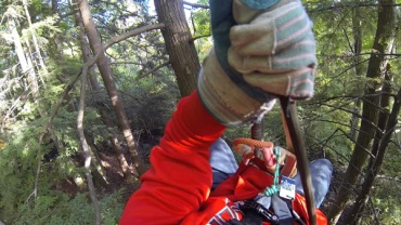 Grand Finale! A 40 foot rappel straight down