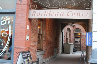 Rochleau Court, pathways through Kingston's downtown