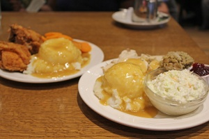 Some typical Mennonite style meals from Anna Mae's Restaurant