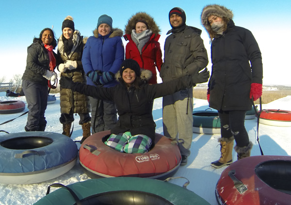 Winter-fun-with-Lets-Discover-ON---snowtubing-group-photo