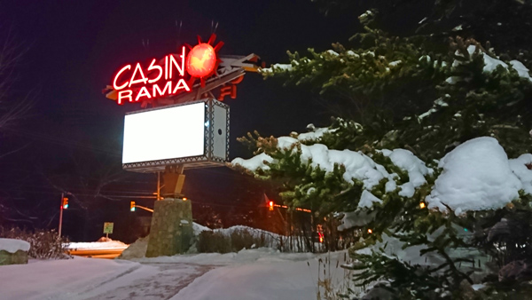 Casino-Rama-outdoor-sign in Orillia. Pic by: Let's Discover ON Travel Blog