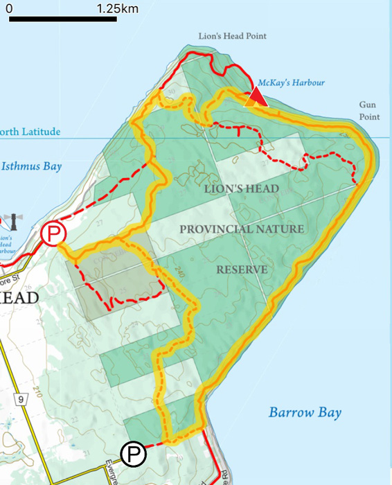 Map-of-Lion_s-Head-Trail-in-Tobermory
