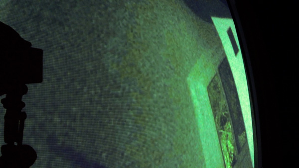 Do you see the image of a ghost here? Watch the video to see more.