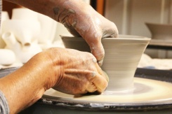 Kawartha-Autumn-Studio-Tour-potters-wheel-Lets-Discover-ON